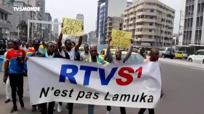 RDC: colère après la coupure du signal de la RTVS1, une chaîne de télévision proche de l'opposition