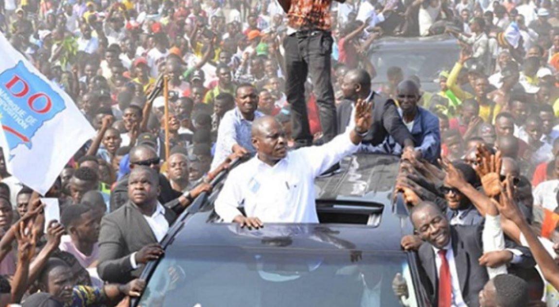 RDC: en meeting au Camp Luka à Kinshasa, Martin Fayulu toujours combatif