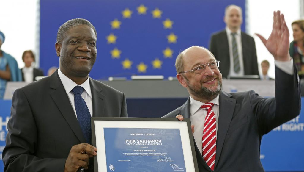 Le prix Sakharov officiellement remis au docteur congolais Mukwege