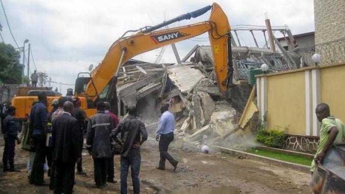 RDC: 7 morts dans l'effondrement d'un immeuble en construction à Kinshasa