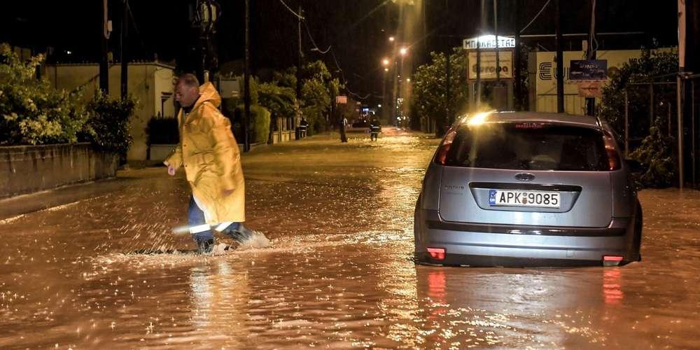 La Grèce frappée par un «médicane» cyclone méditerranéen «Zorba»