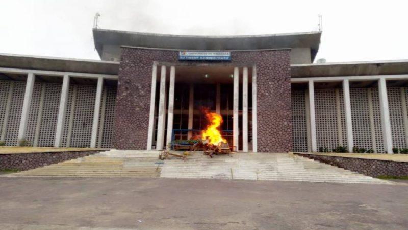 Kinshasa: tensions à l'université de Kinshasa (UNIKIN), la police tire à balles caoutchouc