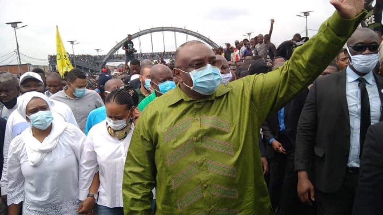 Marche anti-Malonda en RDC: Des milliers de partisans de Lamuka dans la rue avec Jean-Pierre Bemba à Kinshasa