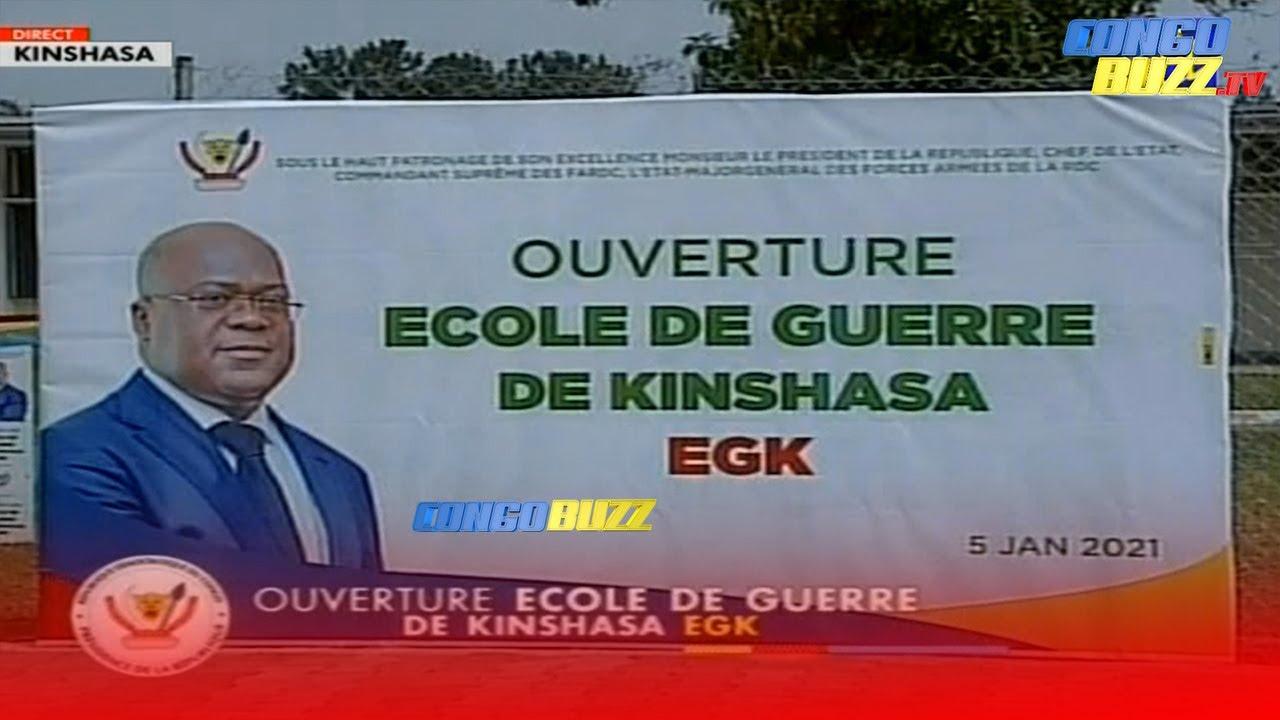 RDC: le président Félix Tshisekedi inaugure la première École de Guerre à Kinshasa