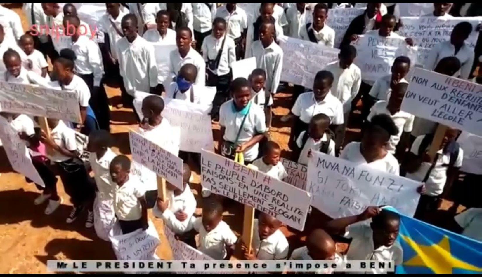 RDC: les élèves et écoliers manifestants de Beni violemment dispersés par la police